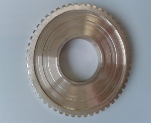 Ruota dentata in bronzo z. 52 modulo 1.25